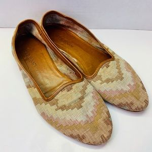 Cole Haan Leather & Fabric Flat